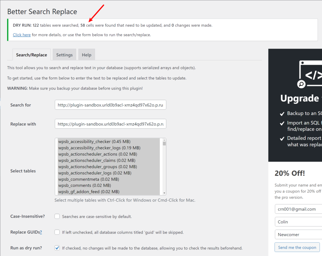 Successful search/replace to start using an SSL certificate