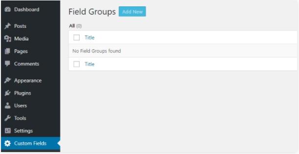 Field groups - advanced WordPress custom fields