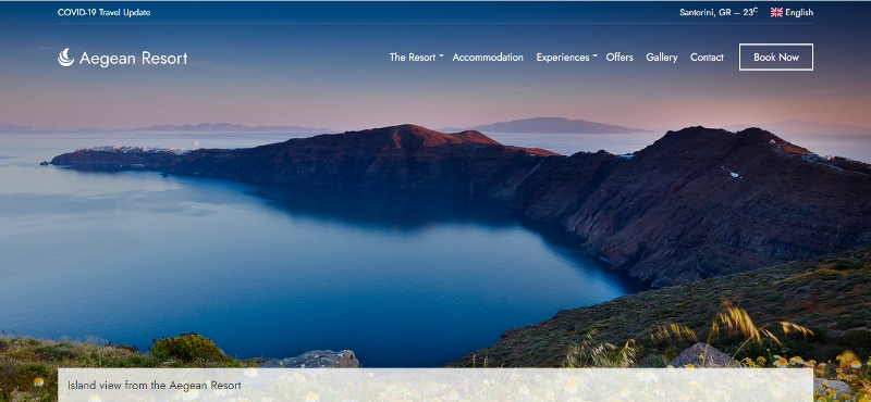 Aegan Resort WordPress Theme