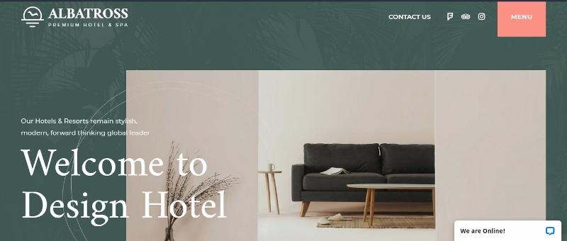 Albatross - best free hotel WordPress theme