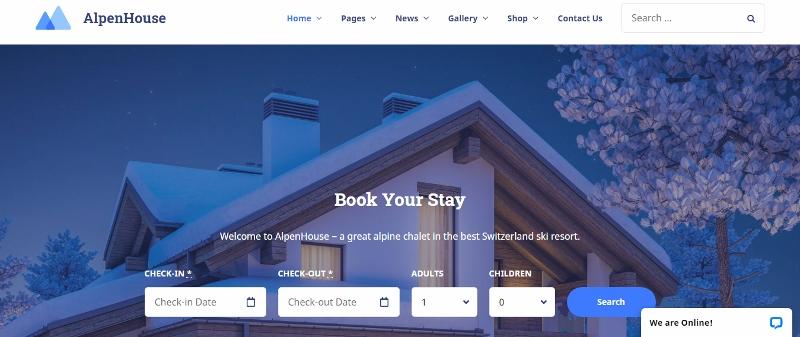 AlpenHouse - best hotel WordPress theme