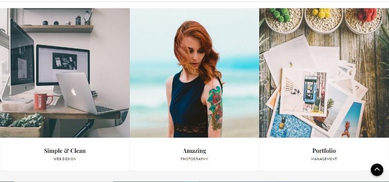 Clean Portfolio WordPress theme