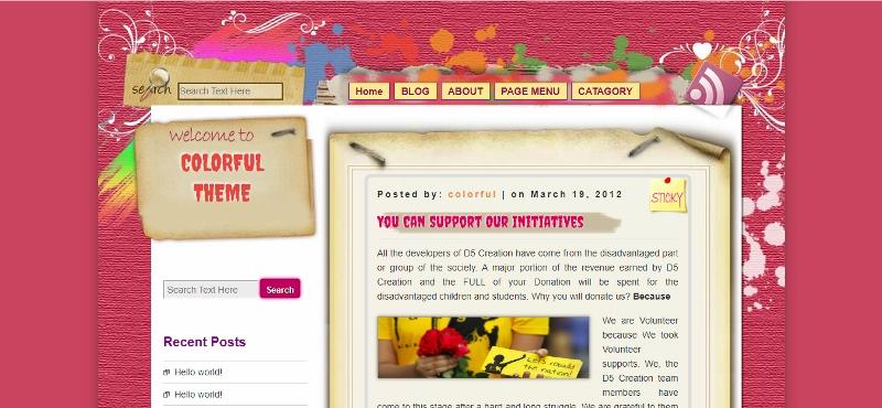 Best colorful WordPress Theme