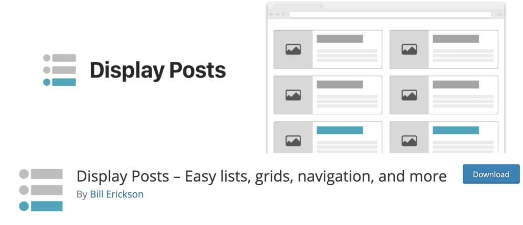 Display Posts - WordPress Tab Plugin