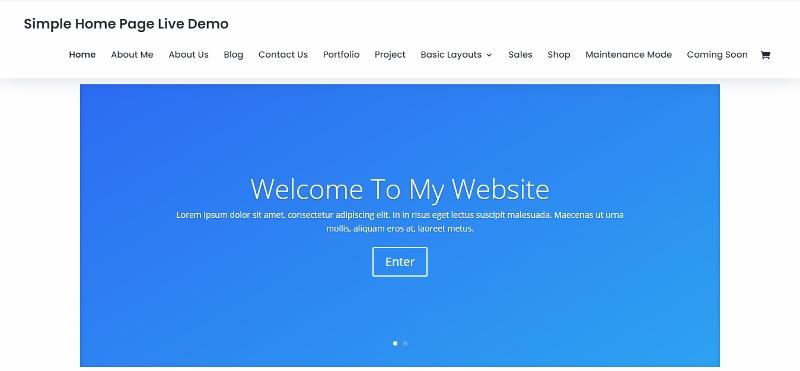 Divi theme simple clean website demo