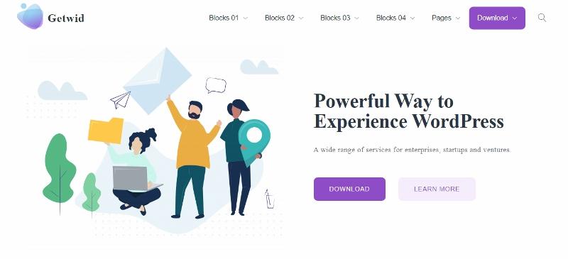 Getwid Base - cleanest WordPress theme
