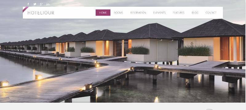Hotelious WordPress hotel theme