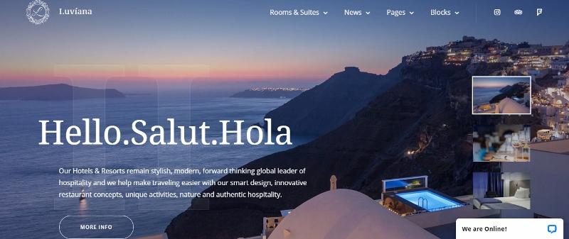 Luviana WordPress theme for hotels