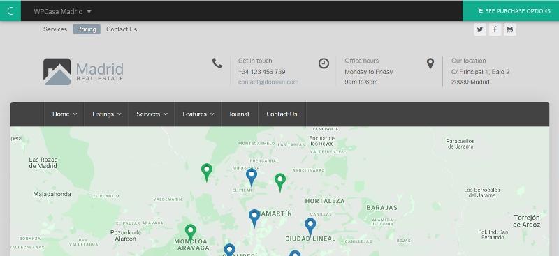Madrid - best WordPress real estate theme