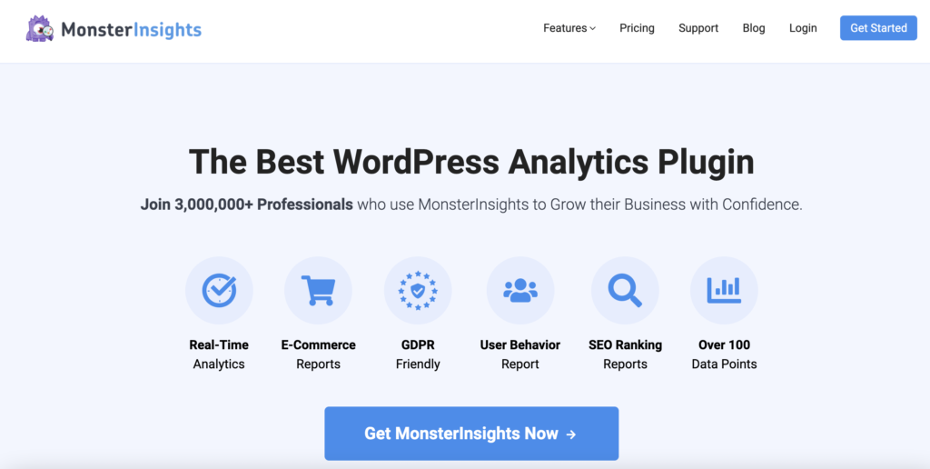 MonsterInsights WordPress Tab Plugin