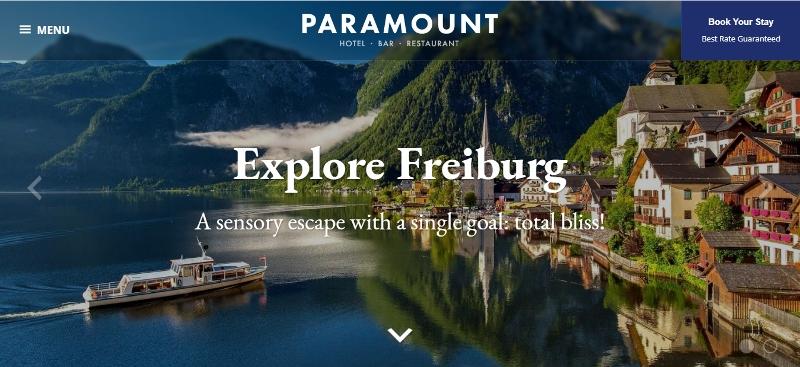 Paramount - WordPress hotel themes