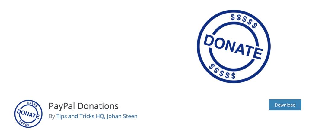Paypal Donations. WordPress Donation Plugin