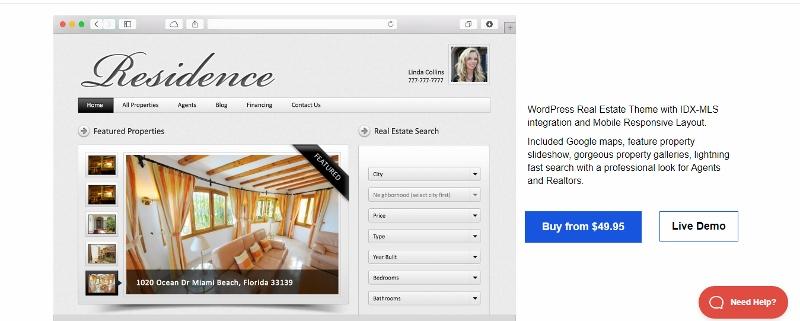 Residence - estate agenty WordPress theme