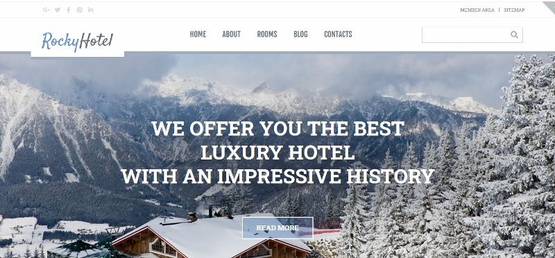 Rocky hotel website theme
