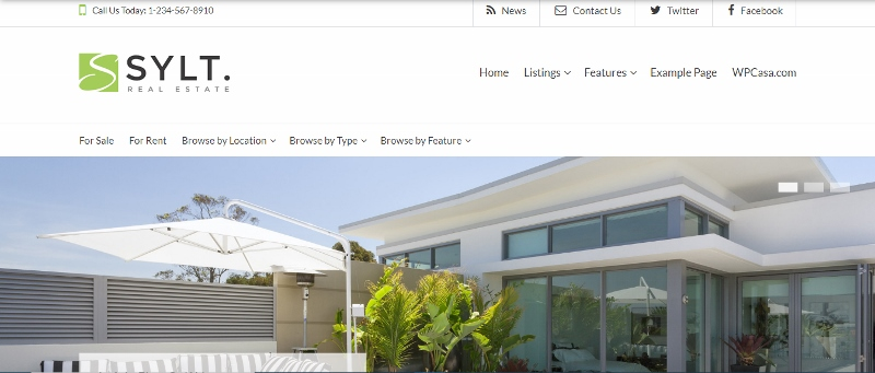 Sylt - WordPress property listing theme
