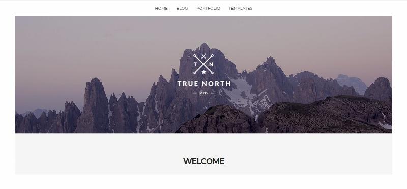 True North - clean portfolio website theme