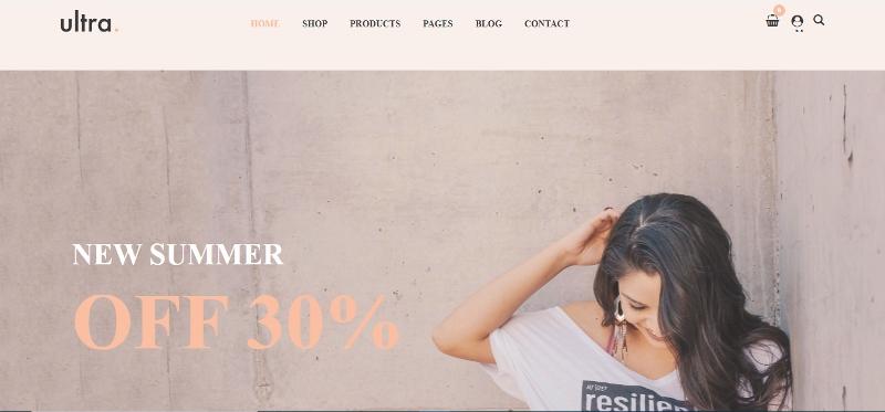 Ultrastore - clean WooCommerce WordPress theme
