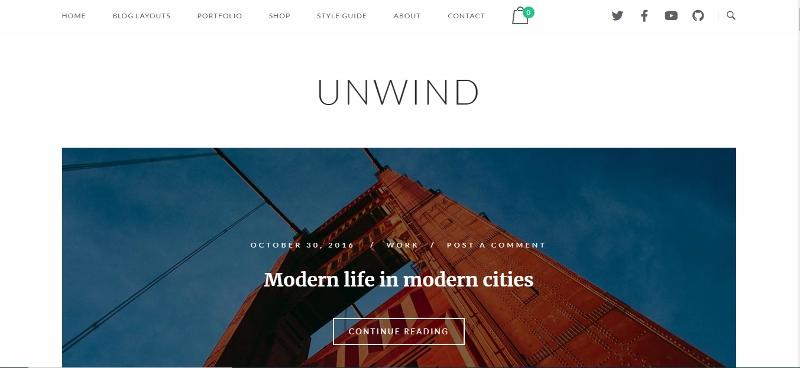 Unwind - clean website theme