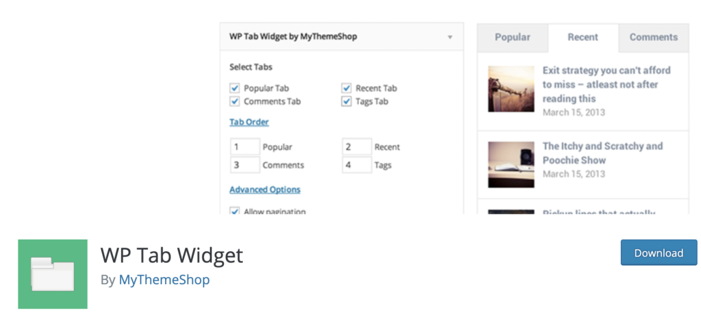 WP Tab Widget - WordPress Tab Plugin