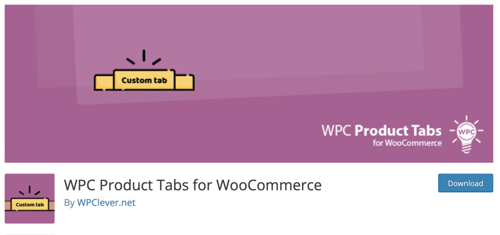 WooCommerce Custom Product Tabs Lite WordPress