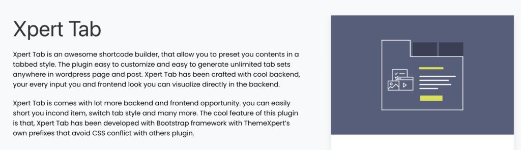 Xpert Tabs - WordPress Tab Plugin