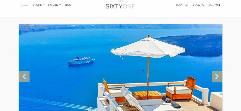 SixtyOne WordPress Hotel Theme