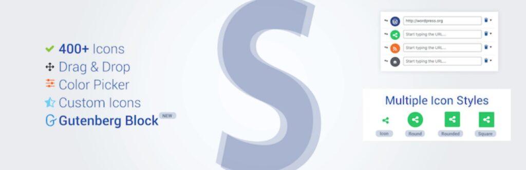 Social Icons Block & Widget