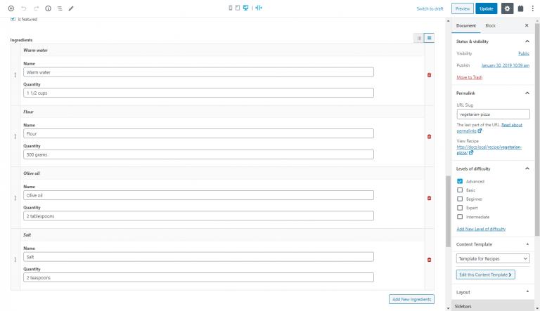 repeatable classes - custom fields in WordPress