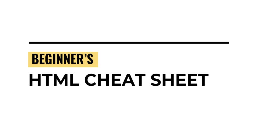 Beginner's HTML WordPress Cheat Sheet by Website Setup (PDF)