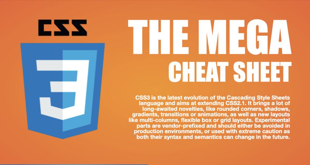 CSS3 The Mega WordPress Cheat Sheet by Make a Website Hub (JPG)