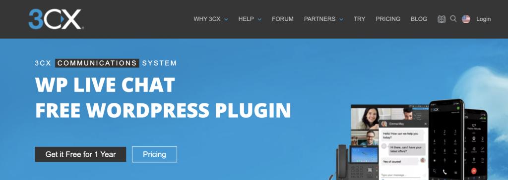 3cx WordPress live chat plugins