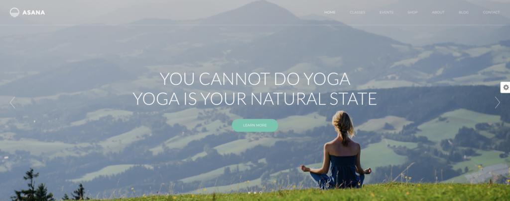 Asana yoga WordPress theme
