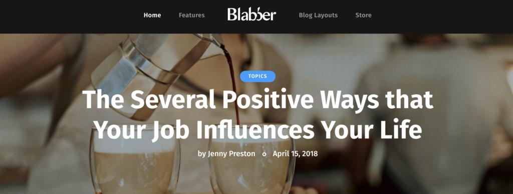 Blabber WordPress theme for affiliate marketing