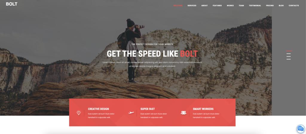 Bolt red wordpress theme