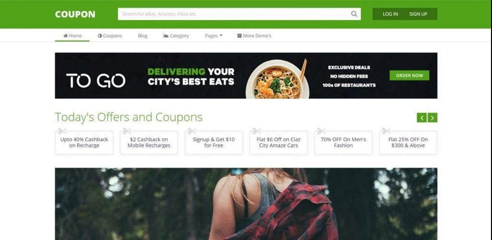 Coupon WordPress theme for affiliate marketing
