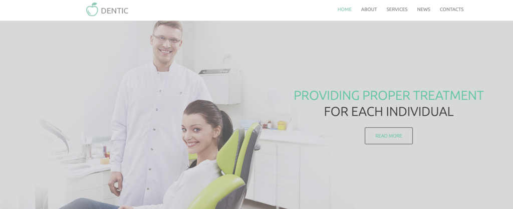 Dentic WordPress theme