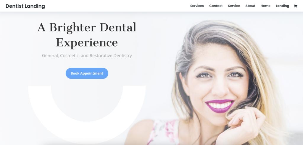 Divi dentist WordPress theme