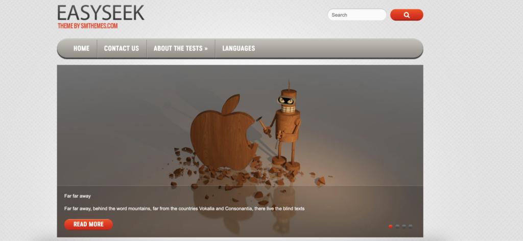 EasySeek red WordPess theme