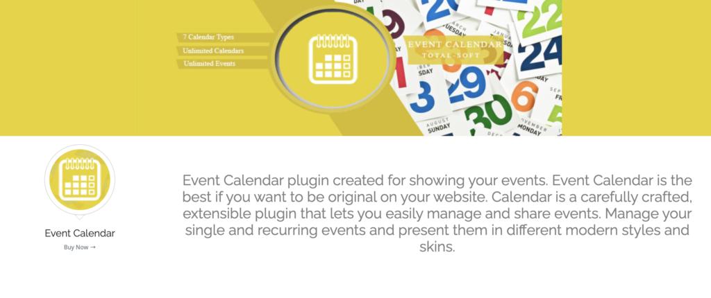 Event Calendar wordpress event calendar plugin
