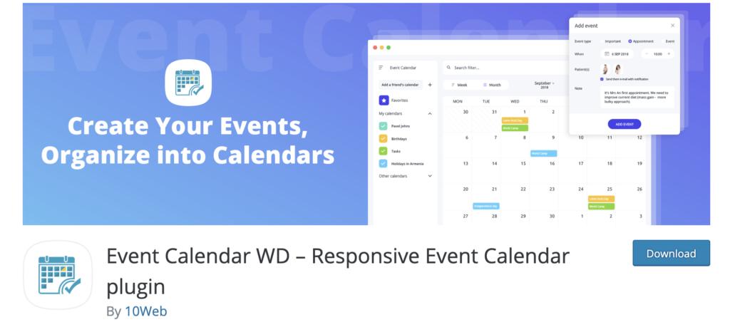 Event Calendar WD – Responsive WordPress Event Calendar plugin