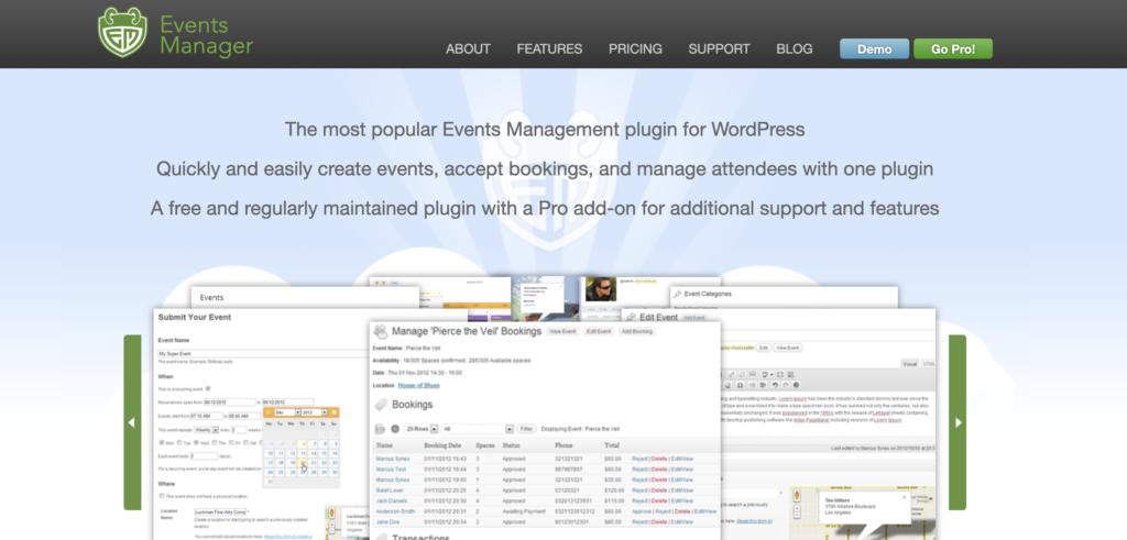 Events Manager WordPress event calendar plugin