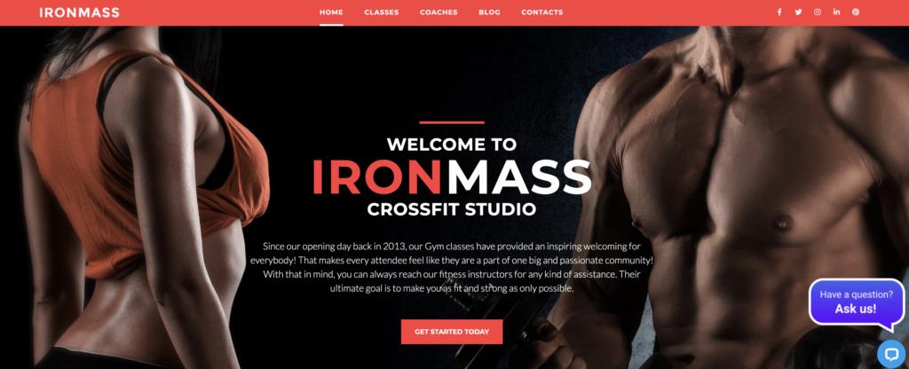 IronMass red wordpress theme