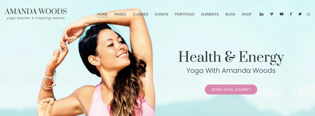 Jogasana yoga WordPress themes