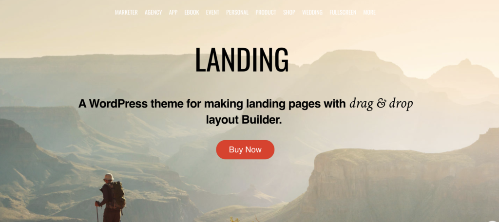 Landing dentist WordPress themes