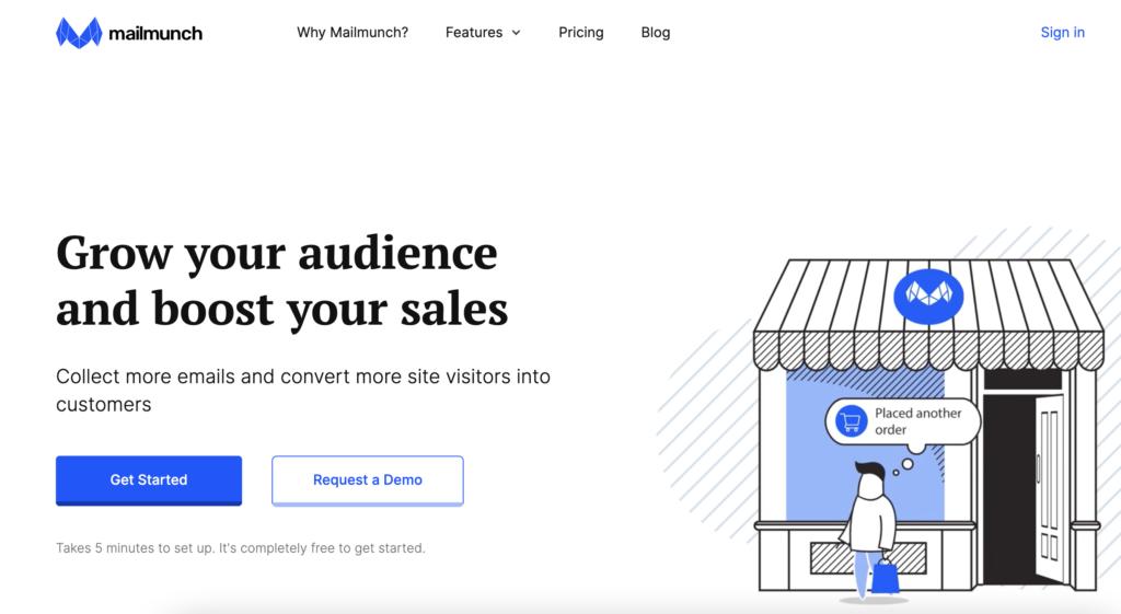 Mailmunch best Mailchimp plugin for WordPress