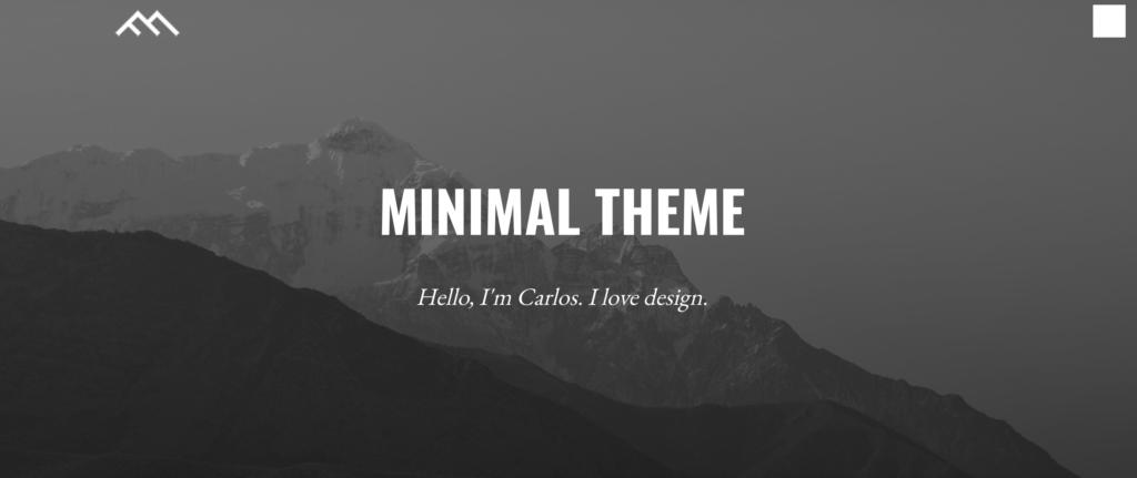 Minimal Dark WordPress theme