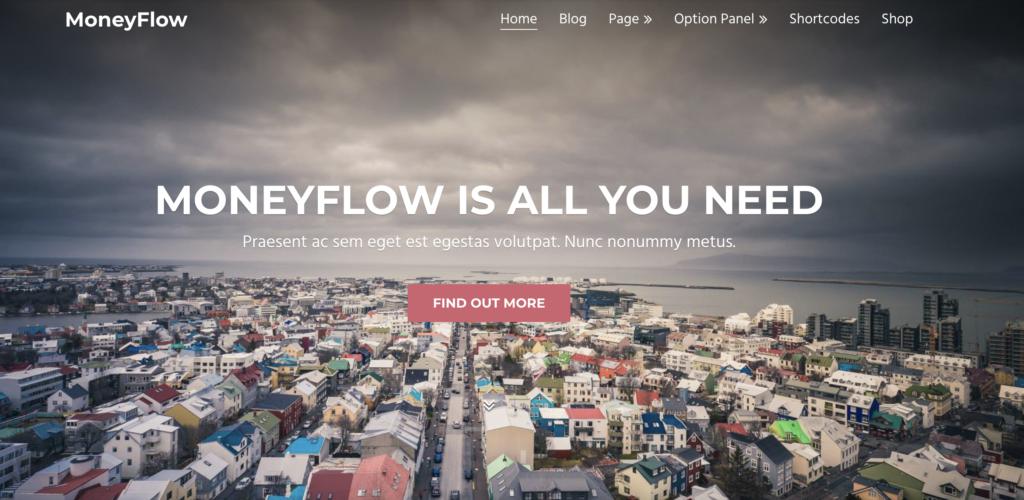 Moneyflow - best WordPress theme for affiliate marketing