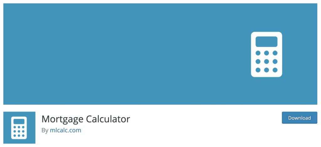 Mortgage Calculator - WordPress real estate plugin