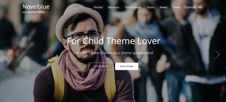 NovelBlue WordPress theme