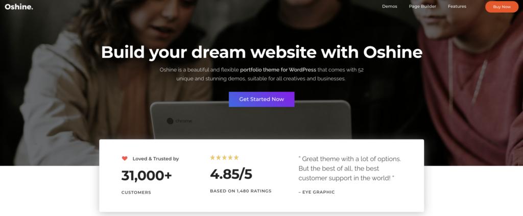 Oshine freelancer WordPress themes